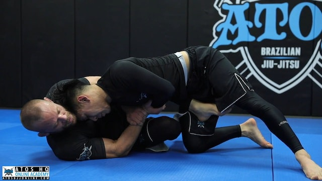 Sweep From Half Guard to Mount