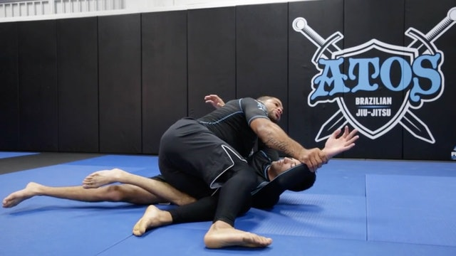 Side Smash Knee Cut Pass from Hooks Guard