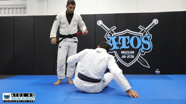 X Guard Sleeve Grip Sweep From Knee S...