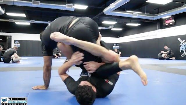 Sparring: Andre Galvao vs Aarin (Purple)