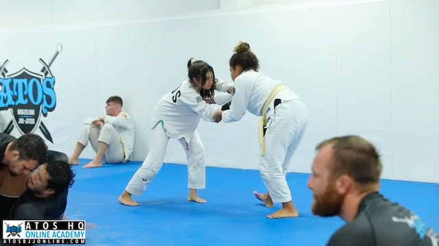 Sarah Galvao Sparring Session