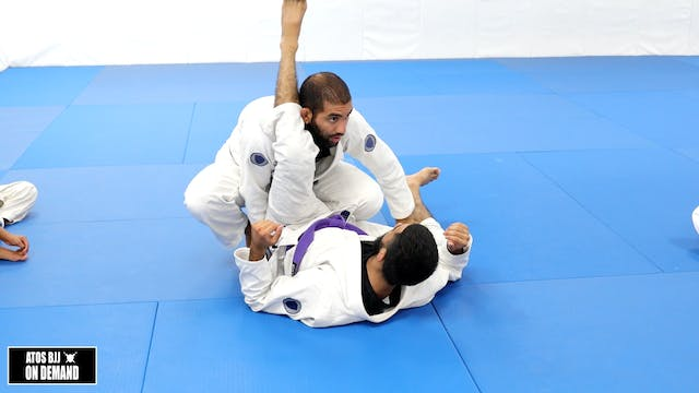 Stack Pass from Half Guard - Kid's Class