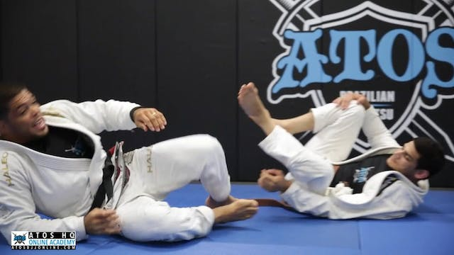 Sweep From Single Leg X to Guard Pass