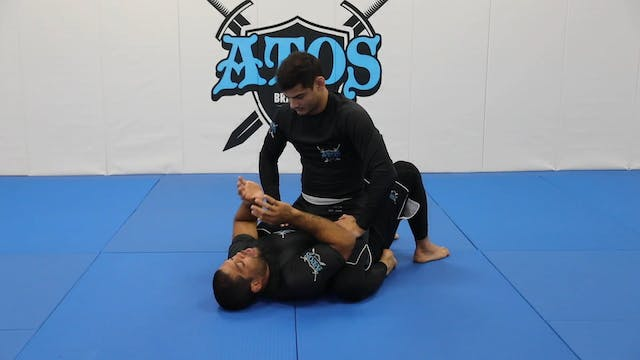 Armbar defense from mount