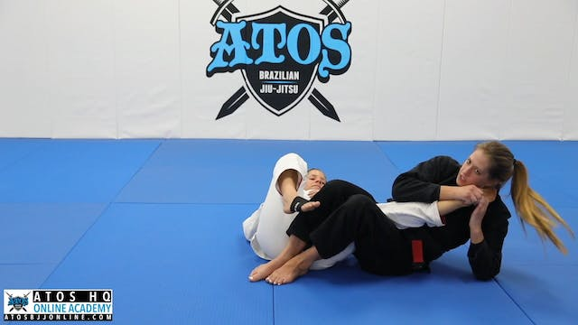 Finishing the Knee Bar From the Top