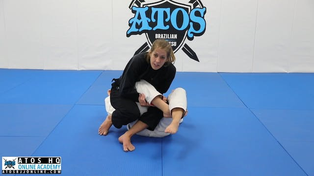 Finishing the Toe Hold From Top Position