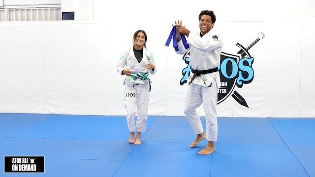 Kids Pan Champion Xio belt promotion - blue belt