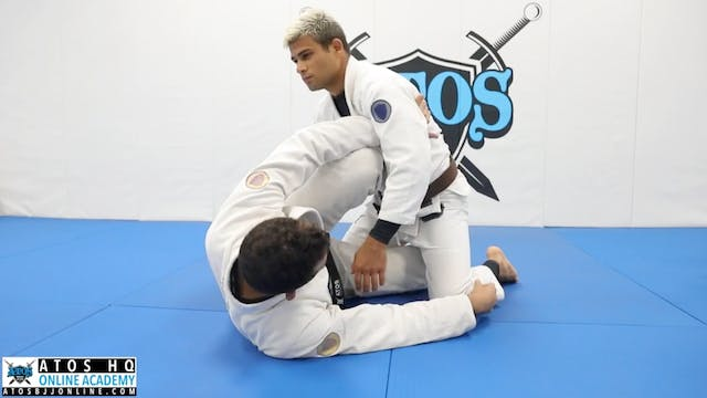 One Leg X Entry From Knee Shield Guard