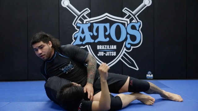 Jumping Into the Knee Cut From the Open Guard