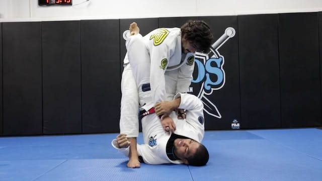 Closed Guard Muscle Sweep to Omoplata...