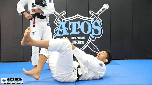 Squid Guard Sweep to Knee Cut Pass