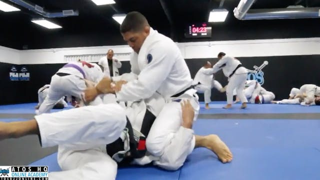 Andre Galvao Rolling Against a Black ...