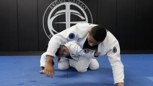 Basic 2 on 1 Grip Back Take From Clos...
