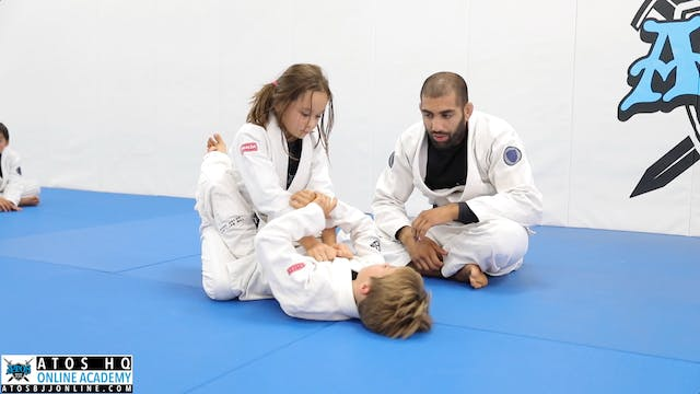 Arm Drag to Arm Bar Review - Kid's Class