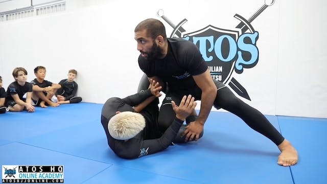 Knee Cut Pass from Open Guard - Kid's...