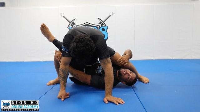 Leg Split Sweep From Deep Half Guard + Heel Hook Submission