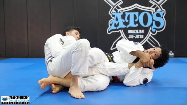 Knee Bar from DLR Guard + Sweep Option