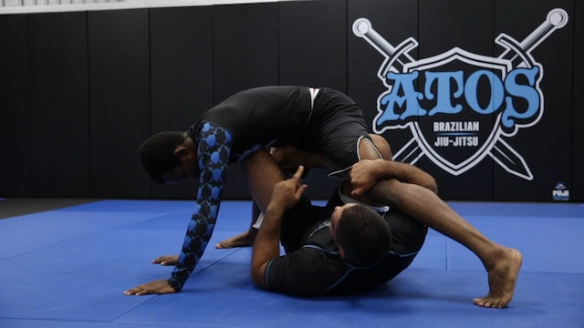Sweeping With the Hooks Guard With X Guard Entry