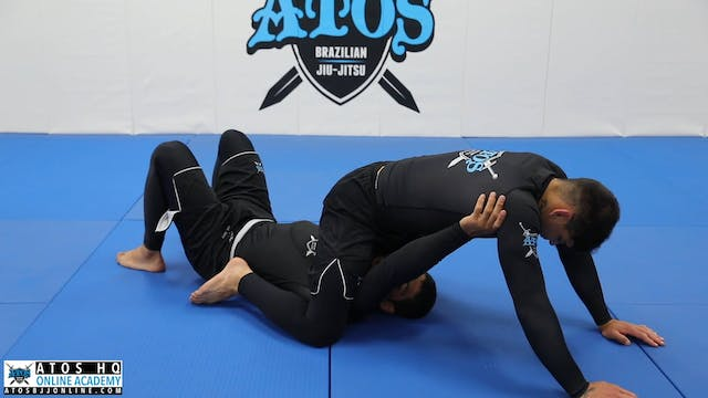 Mount back roll escape to ankle-lock attack