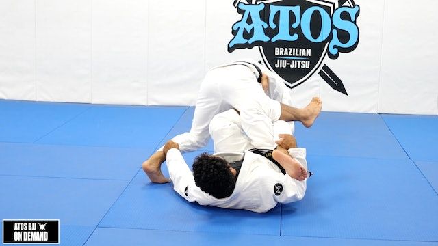 Modified Kiss of the Dragon to Crab Ride Double Pant Grip Sweep