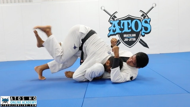 Over Under Knee Staple Pressure Pass & Knee Bar Submission