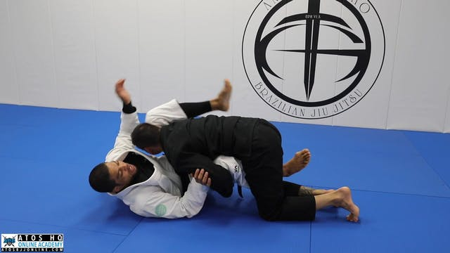 Guillotine and Loop Choke Counters Against Over Under Pass