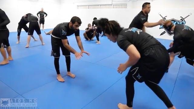 No-Gi Class Sparring: Black belt Rafa...