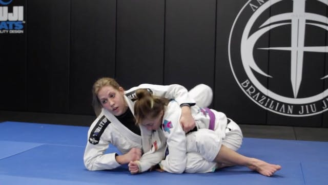Arm Drag Back Take From Closed Guard