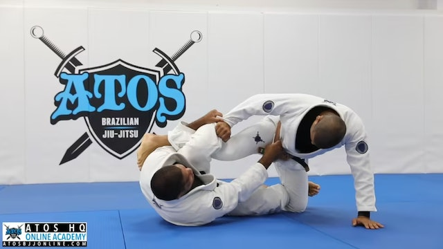 X Guard Set Up From DLR Guard To Overhead Sweep Attack