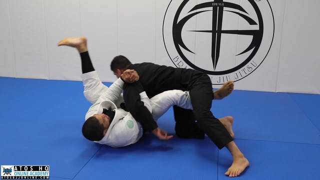 Framing Arm Bar Counter Against Over Under Pass