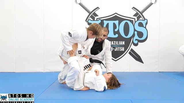 Passing Single Leg X To Mount Position
