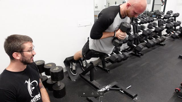 Anaerobic Power - 10% DB Back Extension