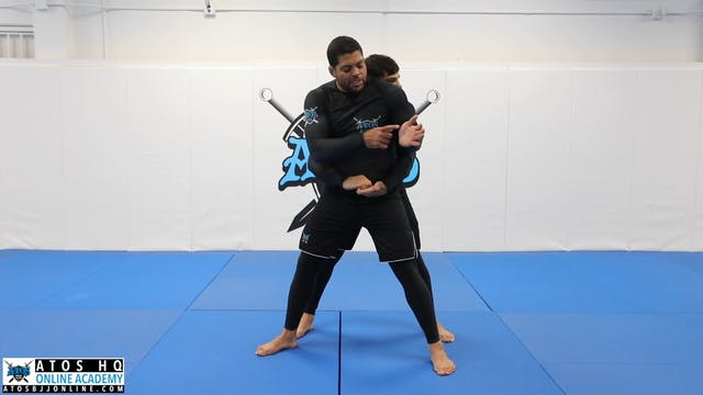 Rear body lock defense
