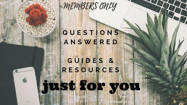 Guides & Resources ~ Just for You