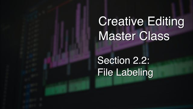 Section 2.2 - File Labeling