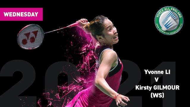 YAE 2021 | Yvonne LI V Kirsty GILMOUR | WS ROUND 1