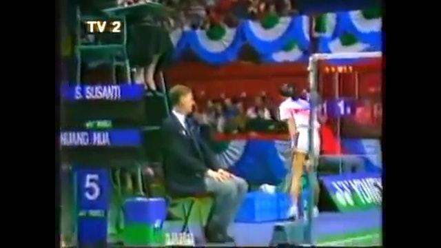 BADMINTON GOLD | YAE 1990 | Susi SUSANTI v Huang HUA | WS Final