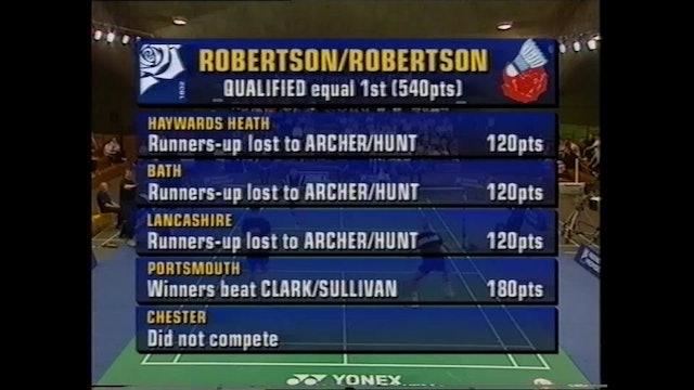 BADMINTON GOLD | FPGS 1999 | ARCHER/HUNT vs ROBERTSON/ROBERTSTON | MD FINAL