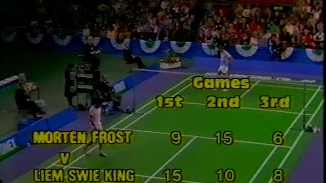 BADMINTON GOLD   YAE 1984   Morten FROST V Liem SWIE KING   MS FINALS