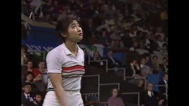BADMINTON GOLD   YAE 1986   Kim YUN-JA-V Qian PING   WS FINAL