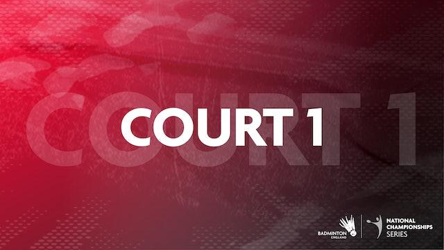 Court 1   Saturday 21st August   Afternoon   Round 1&2