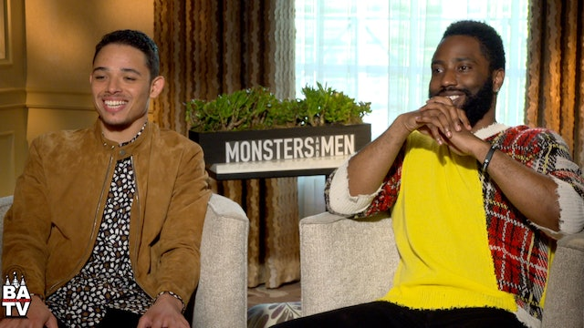 John David Washington And Anthony Ramos Talk Film 'Monsters And Men'