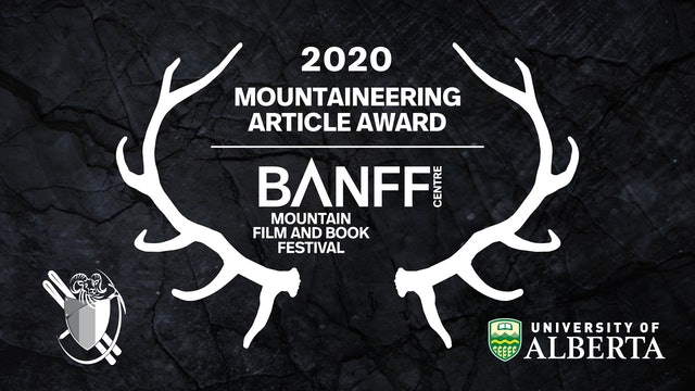 Banff Mountain Book Competition Mountaineering Article Award Presentation