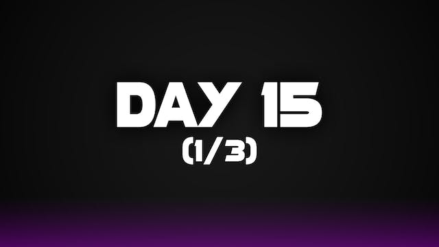 Day 15 (1/3)