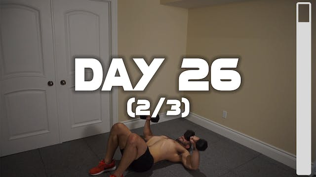 Day 26 (2/3): Chest Workout