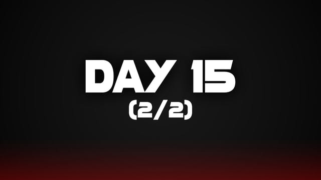 Day 15 (2/2)