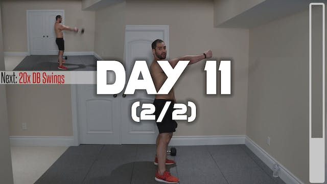 Day 11 (2/2): Lowerbody Workout