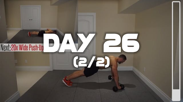 Day 26 (2/2): Chest & Triceps Workout