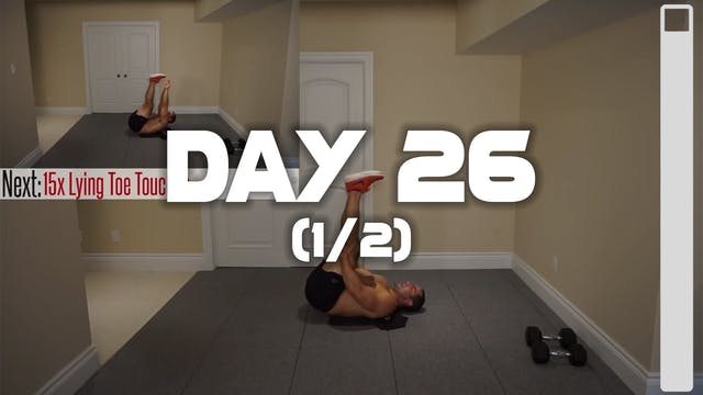 Day 26 (1/2): Chest & Abdominal Workout