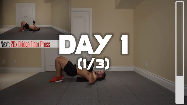 Day 1 (1/3): Chest Workout